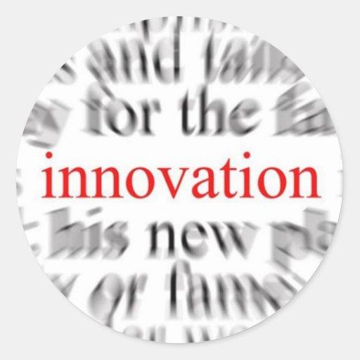 Innovación Pegatina Redonda