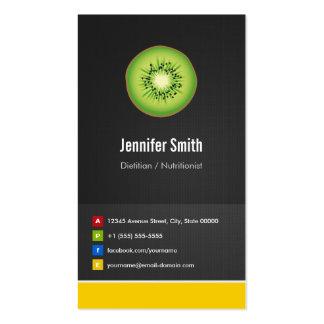 Innovador creativo de la dieta el dietético/del nu plantilla de tarjeta personal