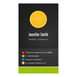 Innovador creativo de la dieta el dietético/del tarjetas de visita
