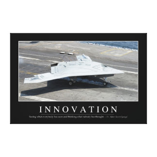 Innovation: Inspirational Quote 1 Canvas Print