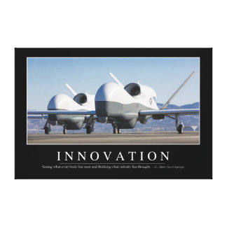 Innovation: Inspirational Quote 2 Canvas Print