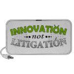 Innovation NOT Litigation Doodle Speaker