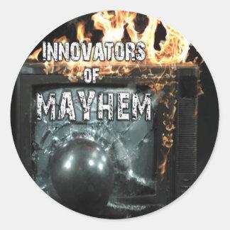 Innovators of Mayhem Classic Round Sticker