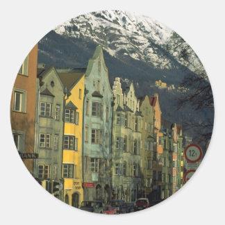 Innsbruck, Austria in Europe Round Sticker