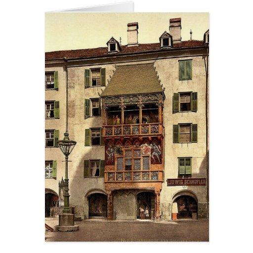 Innsbruck, el pórtico de oro, el Tyrol, Austro-Hun Tarjetón