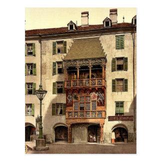 Innsbruck, el pórtico de oro, el Tyrol, Austro-Hun Tarjeta Postal
