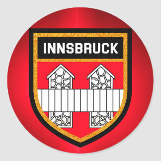 Innsbruck Flag Classic Round Sticker