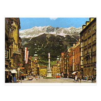 Innsbruck, Maria Teresa Strasse, 1950 Postales
