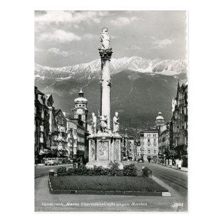 Innsbruck, Maria Teresa Strasse, tranvía Tarjeta Postal