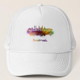 Innsbruck skyline in watercolor trucker hat