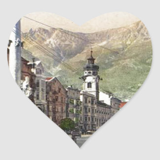 Innsbruck, Tram in  Maria Theresa Starsse Heart Sticker