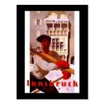 """Innsbruck"" Vintage Travel Poster Postcard"