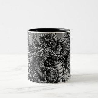 Innsmouth Deep One returning to R'lyeh Two-Tone Coffee Mug