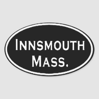 Innsmouth Mass. Oval Sticker