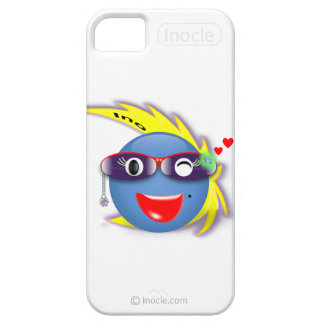 Ino Wink Snap Custom iPhone 5/5S Case (White)