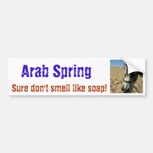 inocencia de la primavera del árabe de los musulma pegatina de parachoque