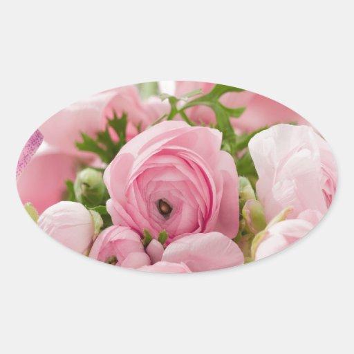 Inocencia dulce floral calcomania de óval personalizadas