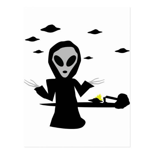 inocent crash alien postcard
