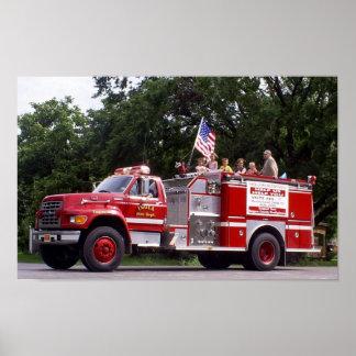 Inola Oklahoma Fire Engine #1 Poster