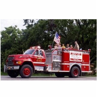 Inola Oklahoma Fire Truck Standing Photo Sculpture