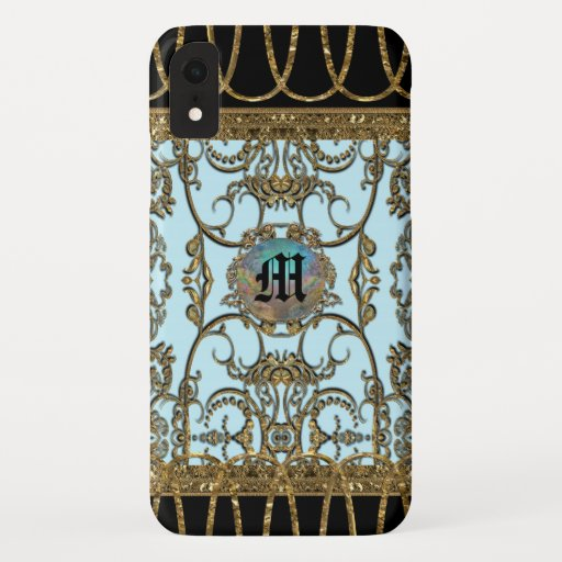 Inoubliable Delight Elegant Monogram iPhone XR Case