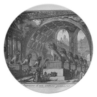 Input of an old high school by Giovanni Battista Melamine Plate