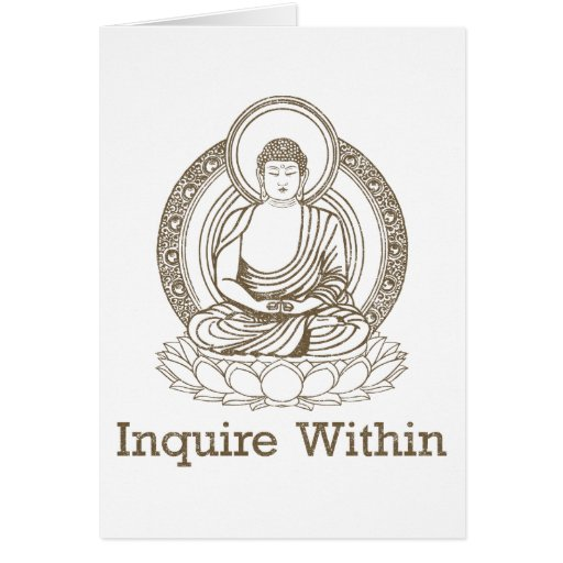 Inquire Within Buddha Greeting Card