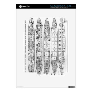 Inquiry in the Loss of the Titanic: Cross sections Decal For iPad 3
