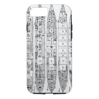 Inquiry in the Loss of the Titanic: Cross sections iPhone 8/7 Case