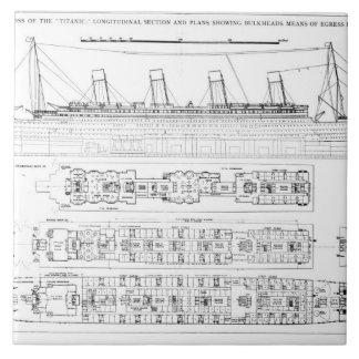 Inquiry into the Loss of the Titanic: Cross sectio Ceramic Tile