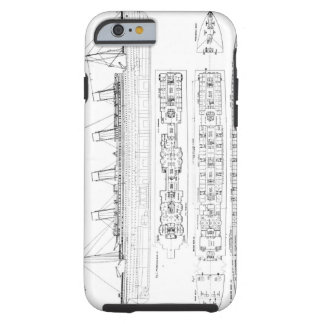Inquiry into the Loss of the Titanic: Cross sectio Tough iPhone 6 Case