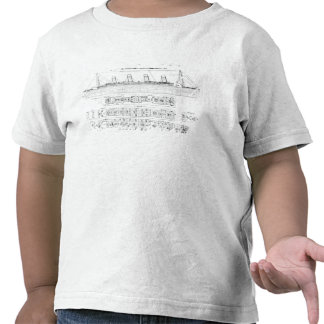 Inquiry into the Loss of the Titanic: Cross sectio T-shirt