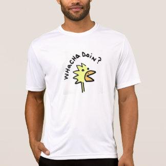Inquisitive Chicken Microfiber T Tshirt