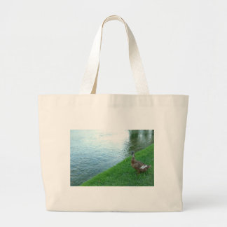 Inquisitive Duck Tote Bags