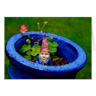 Inquisitive Gnome Greeting Card