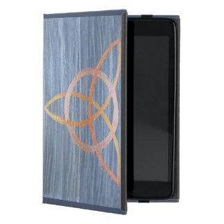 Inquisitive Gold Blue Metallic Triquetra Trinity Cover For iPad Mini