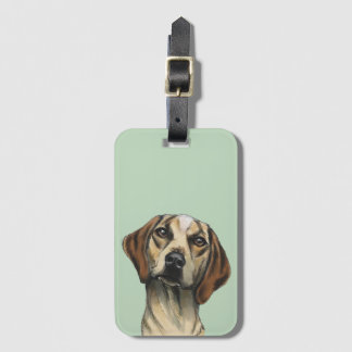 Inquisitive Hound Rendering Bag Tag