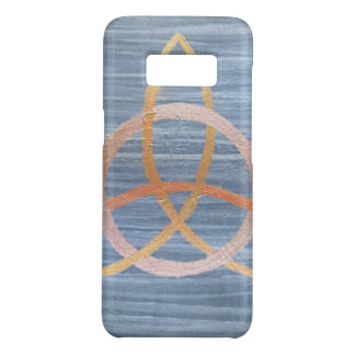 Inquisitive Metallic Gold Blue Triquetra Trinity Case-Mate Samsung Galaxy S8 Case