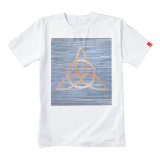 Inquisitive Metallic Gold Blue Triquetra Trinity Zazzle HEART T-Shirt