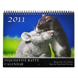 Inquisitive Ratty Calendar 2011
