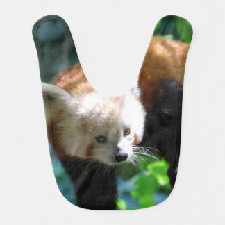 Inquisitive Red Panda Bear Baby Bib