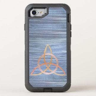 Inquisitive Tech | Gold Blue Triquetra Trinity OtterBox Defender iPhone 8/7 Case