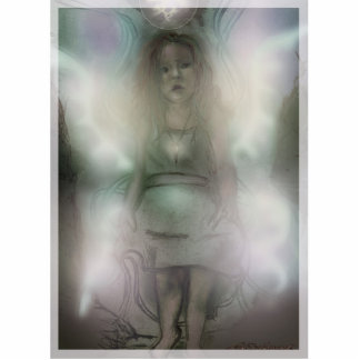 Inquizitive Angel photo sculpture