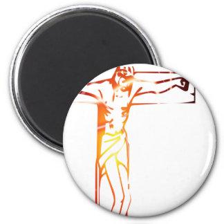 INRI Christ on cross light png 2 Inch Round Magnet