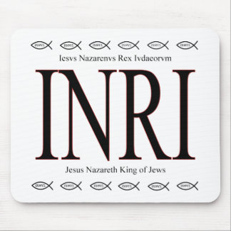 INRI- Icthus Mousepad