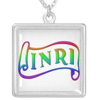 INRI - Jesus Christ, King of the Jews Square Pendant Necklace