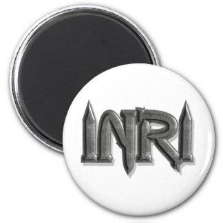 INRI Pointes pierre 3D 2 Inch Round Magnet