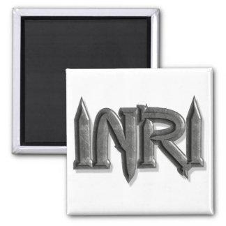 INRI Pointes pierre 3D 2 Inch Square Magnet