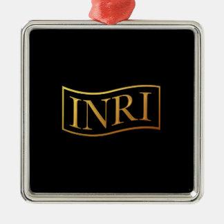 """INRI """"tridimensional"""" de oro Adorno De Reyes"""
