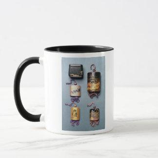Inro and tobacco pouch mug